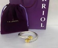 Authentic Charriol Cable Bangle Pure Stainless Steel Clearance Sale