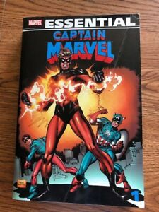Essential Captain Marvel 1 (2008 Marvel), VERY GOOD Condition - Price Reduced!