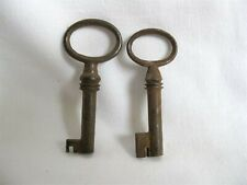Antique iron furniture keys Set of 2 cabinet keys