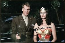 Lyle Waggoner Autographed 4x6 Photo w/ Lynda Carter (Wonder Woman)
