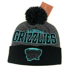 Vancouver Grizzlies NBA Cuffed Knit Pom Winter Beanie Hat, Mitchell & Ness