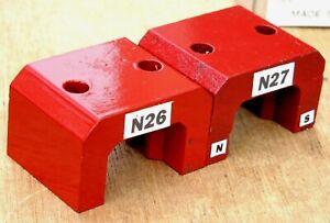 Qty 2 Eclipse Model 814 Alnico 5 Horseshoe Power Magnets 52 Lb Pull Each