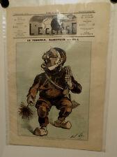 Caricature, Journal l'éclipse,Le terrible...ramonneur, Gill , 27 octobre 1872
