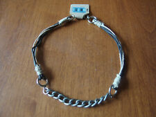 """Unisex Lobster Claw Clasp Free Ship Leather & Chain Surfer Choker Necklace 19"""""""