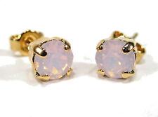 SoHo® Ohrringe Ohrstecker Kristall geschliffen rose water opal Strass rosa gold