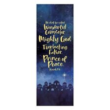 """23 x 63"""" Prince of Peace X Stand Banner Satin Polyester"""