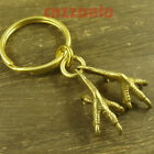 """Total Brass """" talons """" Key chain ring or as sweater chain pendant H557"""