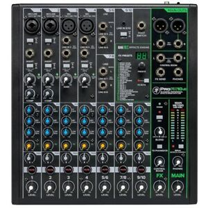 Mackie ProFX10v3 10-channel Compact Mixer with USB & Effects PROFX10