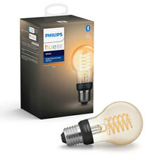 Philips Hue Bluetooth 7W A60 E27 Filament Smart Light Bulb App Control White