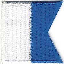 "1 1/4"" International Maritime Nautical Signal Flag Letter A Alpha Patch"