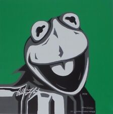 "ALLISON LEFCORT ""MUPPETS - KERMIT"" SIGNED GICLEE/CANVAS - LIMITED EDITION - COA"