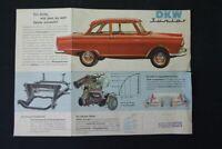 altes Prospekt Werbung DKW Junior old vintage retro