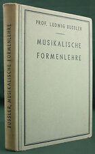 BUSSLER - MUSIKALISCHE FORMENLEHRE - 1942 HABEL - SOLFEGE