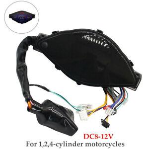 Motorcycle LCD Speedometer Digital Tachometer Gauge For 1,2,4 Cylinders Meter×1