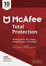 McAfee Protección Total 208 10 usuario/ PC/ dispositivos seguridad de internet