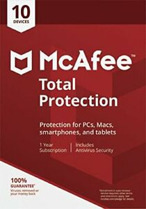 McAfee Total Protection 2020 10 User/PC/Devices Internet Security