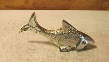 Vintage Chrome Fish Figural Bottle Opener  F- 162