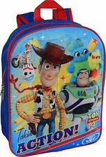 """Disney Toy Story 4 School Backpack Book bag Boys Kids Buzz Woody Forky Blue 15"""""""