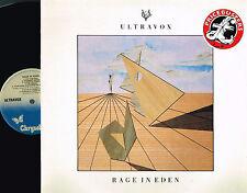 ULTRAVOX Rage In Eden LP Conny Plank CHRYSALIS uk 1982 CHM 1338 A2/B1 @Excl