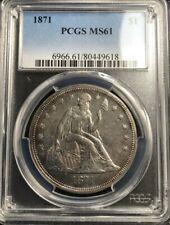 1871 Seated Liberty Dollar PCGS MS61