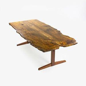 Mira Nakashima 96 x 46 in Trestle Dining Table in Myrtle Burl George Nakashima