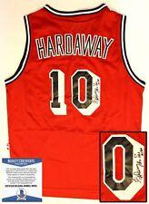 Miami Heat Tim Hardaway Signed Jersey  Beckett BAS COA COA