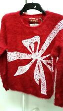STAR Christmas Jumper Womens  Ladies Knitted Winte Top Sweater BNWT Size 12 B332