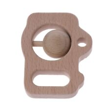 Baby Camera Beech Wood Rattle Teethers Hand Montessori Toy Play Gym Chew Toy