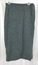 Eileen Fisher New York Womens Gray Heathered Wrap Skirt Wool Silk Blend Size 2