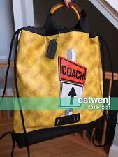 ❤️NWT COACH F83608 Men'Terrain Drawstring Backpack Bag J SHLS ST-Yellow/Multi