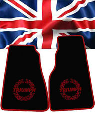 Floormats for Triumph Spitfire Velours black and Logo in Red    2-pieces