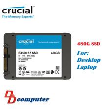 "Crucial Bx500 Series 480gb 2.5"" SATA 7mm Internal Solid State Drive SSD 540mb/s"