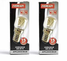 2 X 15w Universal 300c OVEN COOKER APPLIANCE Bulb Lamp SES E14 Light Bulbs 240V