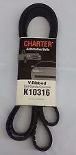 Serpentine Belt-Automotive V-Ribbed Belt (Standard) Gates Charter K10316