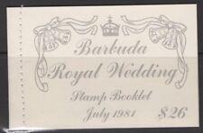 BARBUDA SGSB3 1981 ROYAL WEDDING BOOKLET MNH