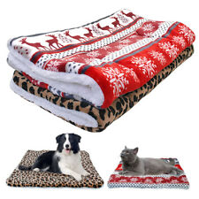Pet Bed Mat Cat Dog Fleece Winter Warm Soft Blanket Small to Large Dogs Cushion