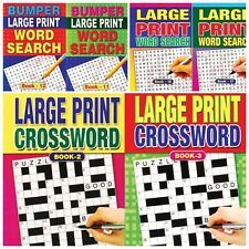 A4/A5  LARGE PRINT CROSSWORD PUZZLE BOOKS KIDS & ADULTS ACTIVITY HOME  SCHOOL
