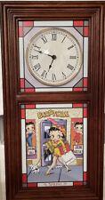 New listing Danbury Mint Betty Boop Stained Glass 4 Season Wall Clock 2007 Nib