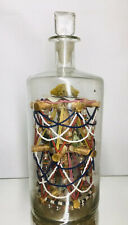 SUPERB Intricate Antique 19th C Folk Art Patience Whimsy Beaded Bottle