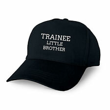 TRAINEE LITTLE BROTHER PERSONALISED BASEBALL CAP GIFT TRAINING