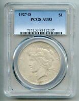 1927 D Peace Silver Dollar PCGS AU 53