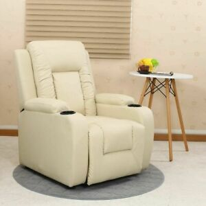 Comfortable Armchair Recliner Sofa Seat Suite Leather Furniture Back Home Cinema