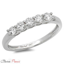 0.60 Ct Round Cut Halo Engagement Ring 14k Solid White Gold