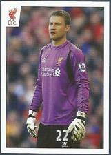 PANINI LIVERPOOL STICKER-2014/15- #102-SIMON MIGNOLET IN ACTION