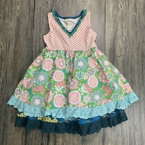 Matilda Jane Cake Walk Tank Dress Girls Sz 6
