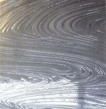 Elephant Gray Baroque Art Deco Transparent Stained Glass Sheet 7x4