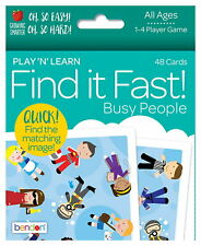 NEW Find It Fast! Busy People 1-4 Player Educational Family Card Game - Fun!