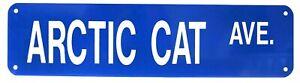 Arctic Cat ATV UTV Street Sign Novelty Aluminum Metal Man Cave Blue New Vintage