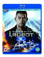 I ROBOT 3D / 2D + DVD - BLU RAY - NEW / SEALED - UK STOCK