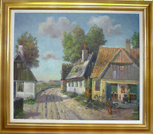 KURT WERNER! VILLAGE SCENE WITH BLACKSMITH IN HIS WORKSHOP. NO RESERVE